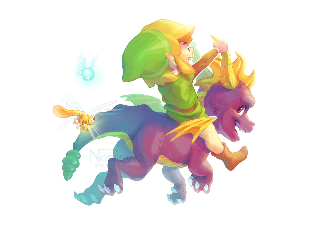 Yuga's Art Gallery: Link and Spyro